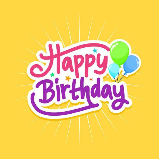 Schriftzug Happy Birthday